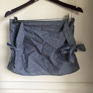 Lulu's Tops - NWT LuLu's Chambray Bow Blouse